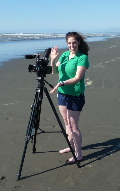 My shiny new camera at the beach in Ocean Shores, WA!